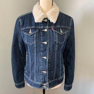 LEVI Faux Fur Lined Denim Jacket